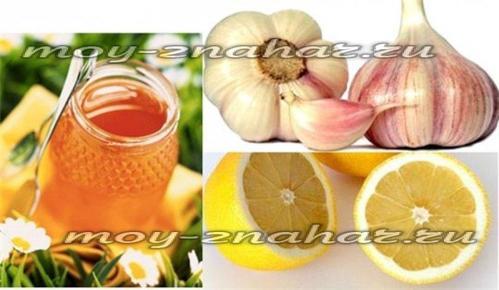 мед с чесноком и лимоном